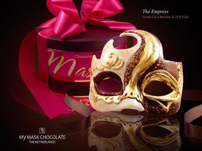 My Mask Chocolate Collection - The Empress - Luxury handmade chocolate art