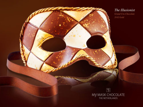 My Mask Chocolate Collection - The Ilusionist - Luxury handmade chocolate art