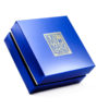 Le Petit Bijou - gold mask small in blue glossy box
