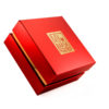 Le Petit Bijou - gold mask small in red glossy box